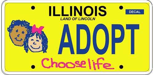 Choose Life License Plates in Illinois