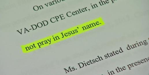 Chaplains File Suit Over Religious Harrassment