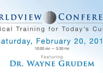 February Worldview Event with Dr. Wayne Grudem