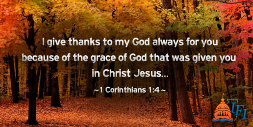 Giving Thanks to God for YOU