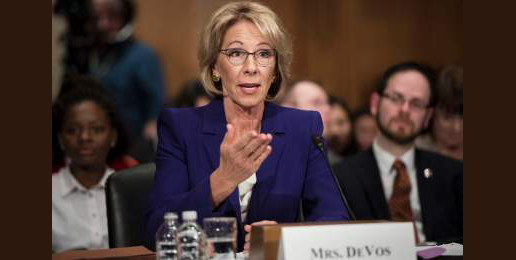 Support Needed for Secretary of Education Nominee Betsy DeVos