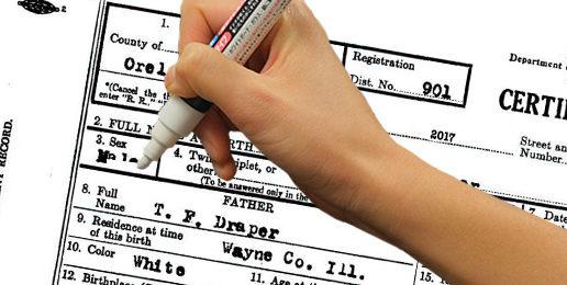 Legalizing Counterfeit Birth Certificates