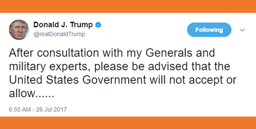 Pres. Trump Restores Sanity for Military Personnel