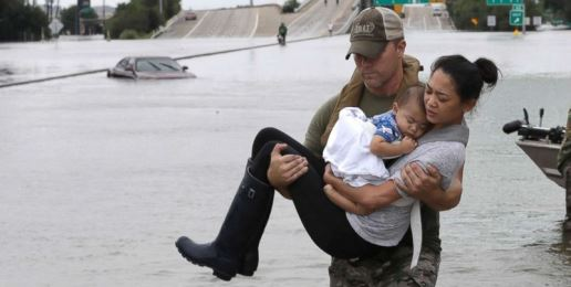 Through Unspeakable Tragedy, the Response to Hurricane Harvey Showcases the Best of America