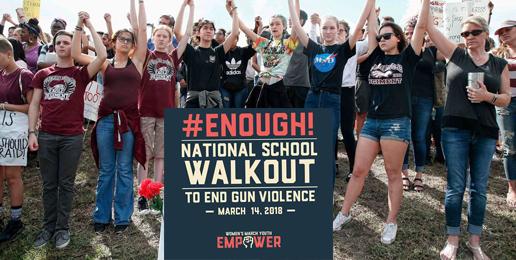 Leftist Anti-Gun Protest in Government Schools