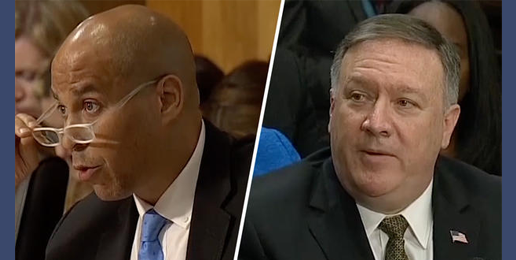 Mike Pompeo Faces Cory Booker's Inquisition