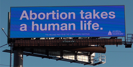 Pro-life Billboard Reaches Chicago and Suburbs!