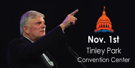 Last Chance to See Rev. Franklin Graham on November 1st!