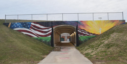 Wisconsin Group Tries to Force Illinois City to Remove Cross From Mural