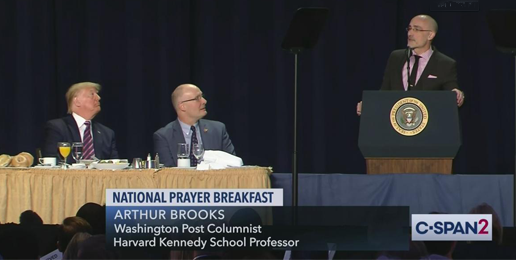 Arthur Brooks is Wrong About Love—Reflections on his Speech at the National Prayer Breakfast