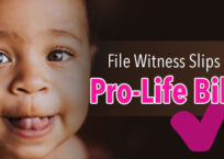 You Can File Witness Slips for Pro-Life Bills!