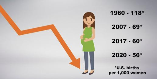 The Decline of U.S. Birth Rates Raises a Question